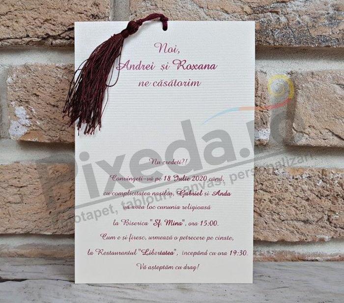 Imagine Invitatii nunta 2745  flori desenate 2745