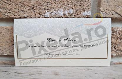 Imagine Mape de bani nunta PZA 17 dantelă crem