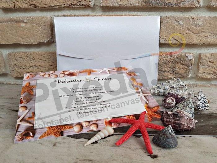 Imagine Invitatii nunta 2750 motive marine