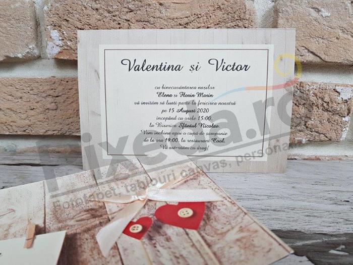 Imagine Invitatii nunta 2755 stil romantic rustic