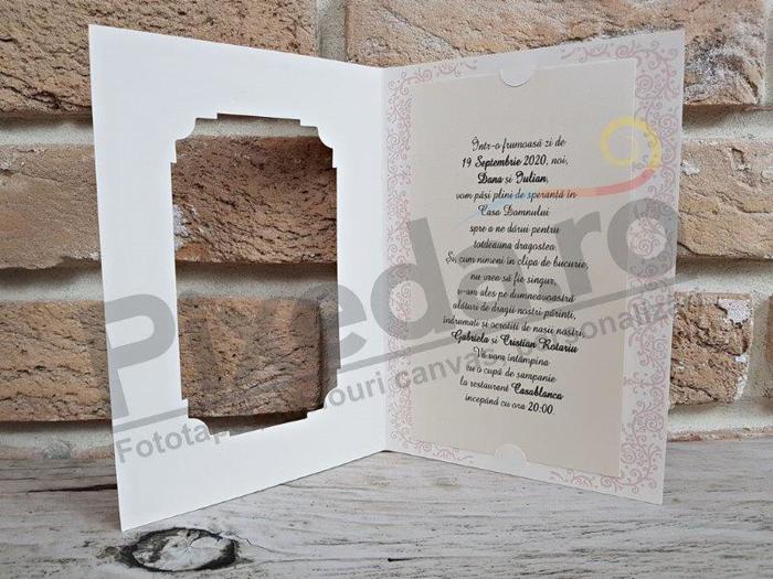 Imagine Invitatii nunta 2756 decupaj ramă tablou