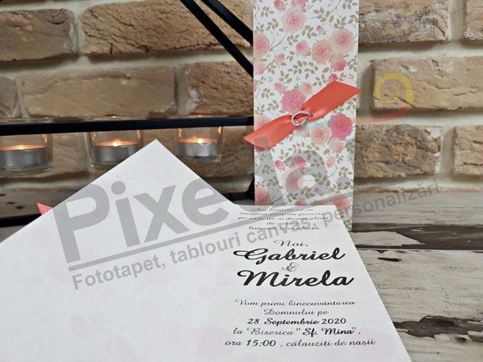 Imagine Invitatii nunta 2759 ornamente florale