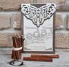 Imagine Invitatii nunta 2760 model elegant dantelă vișinie