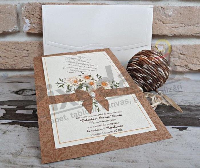 Imagine Invitatii nunta 2763 elemente florale