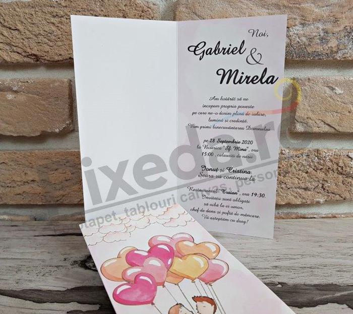 Imagine Invitatii nunta 2769 baloane inimioare