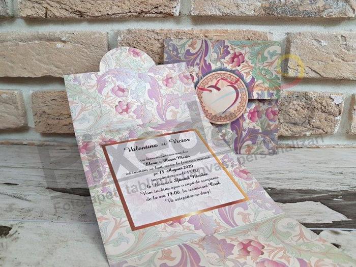 Imagine Invitatii nunta 2771 flori multicolore