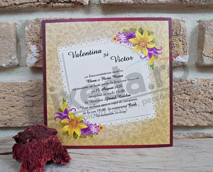 Imagine Invitatii nunta 2774 crini
