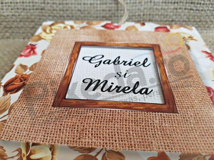 Imagine Invitatii nunta 2776 ornament textil