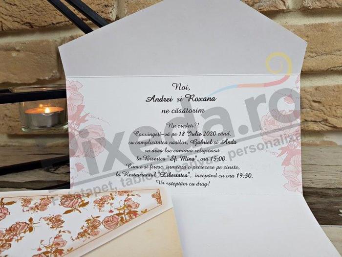 Imagine Invitatii nunta 2778 perlă inimioară