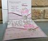 Imagine Invitatii de botez 8021 cărucior roz