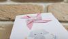 Imagine Invitatii de botez 8028 morișcă roz și elefănțel