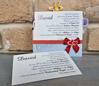 Imagine Invitatie de botez 8034 albastră cu animăluțe colorate