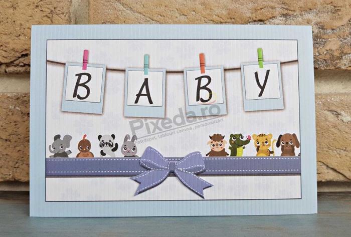 Imagine Invitatie de botez 8039 BABY animăluțe