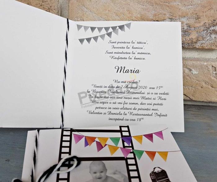 Imagine Invitatii de botez 8051 fotografii bandă film