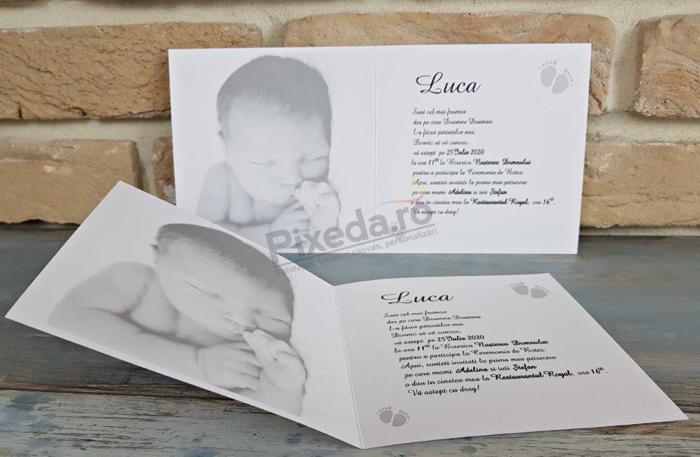 Imagine Invitatie de botez 8052 accesorii pentru bebeluși