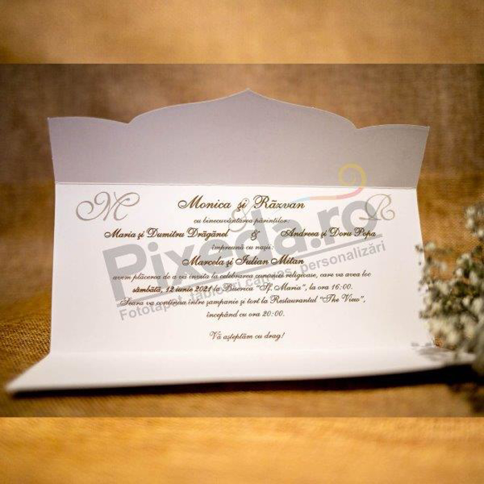 Imagine Invitatii nunta 2022 flori roșii