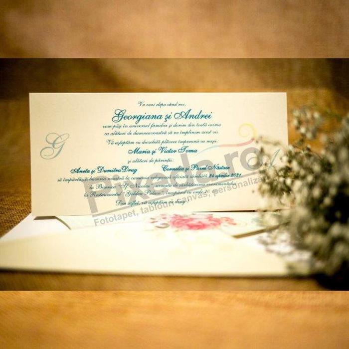 Imagine Invitatii nunta 2025 bujor