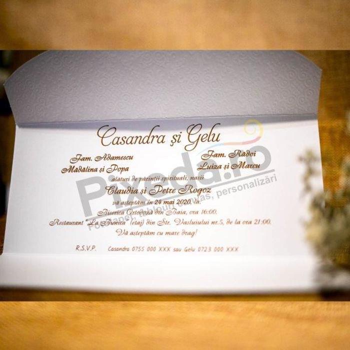 Imagine Invitatii nunta 2027 ornamente texturate