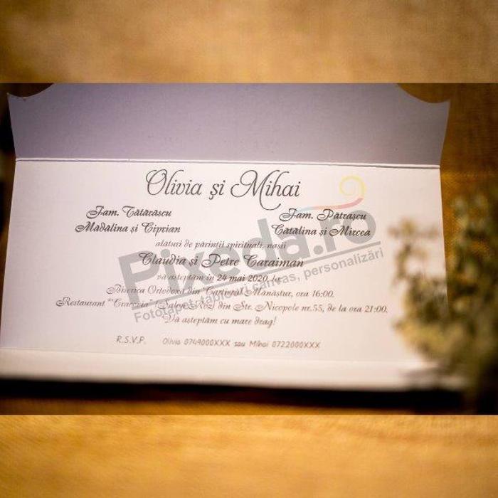 Imagine Invitatii nunta 2028 ornament stilizat elegant