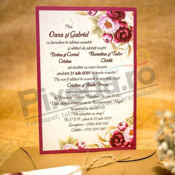 Imagine Invitatii nunta 2031 inimă decupată 2031