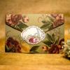 Imagine Invitatii nunta 2032 ornamente florale stil rustic
