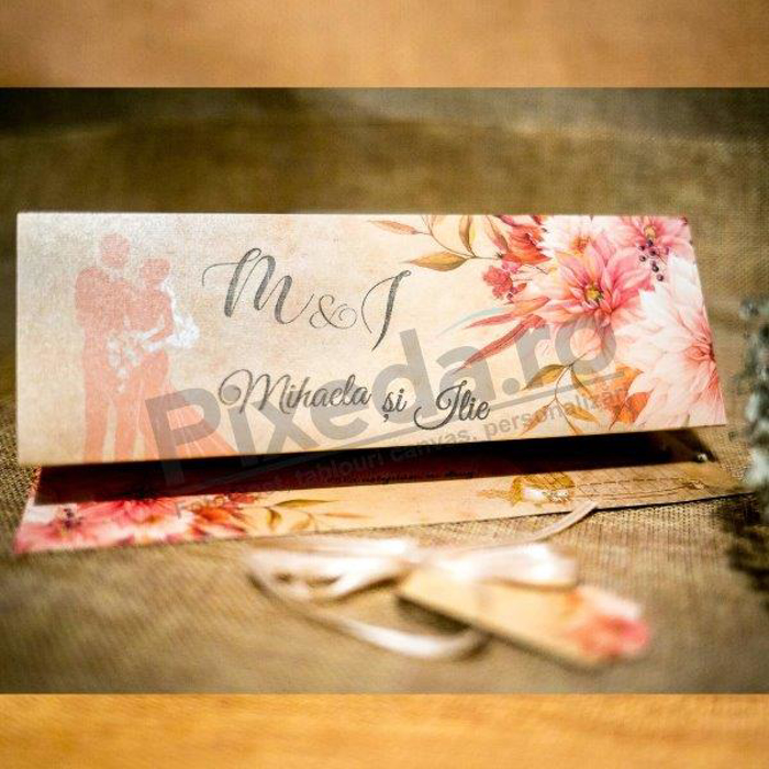Imagine Invitatii nunta 2037 flori și miri