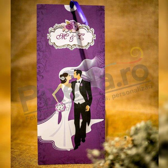 Imagine Invitatii nunta 2038 mov tineri îndrăgostiți