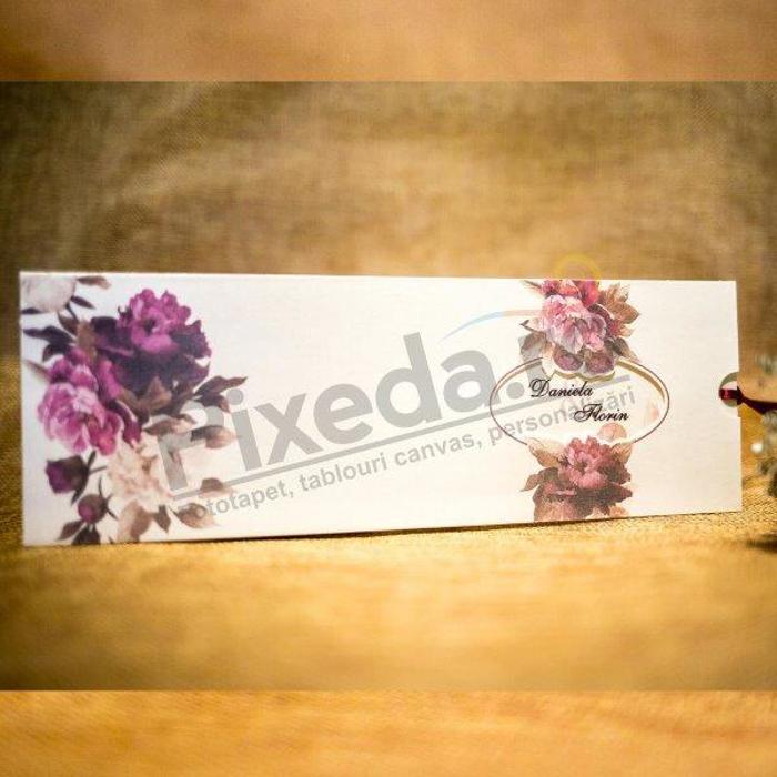 Imagine Invitatii nunta 4001 decupaj și motive florale