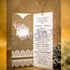 Imagine Invitatii nunta 4019 model dantelă albă