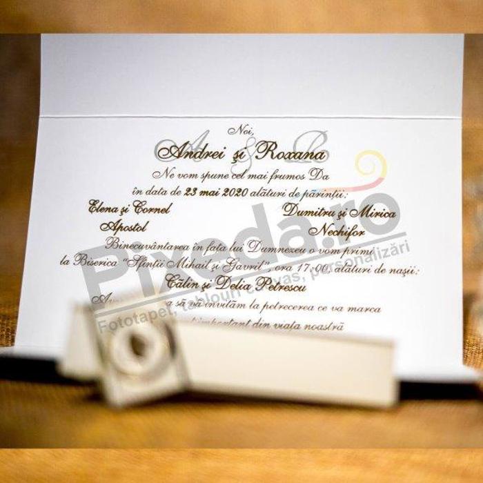 Imagine Invitatii nunta 4022 cu timbru și flori