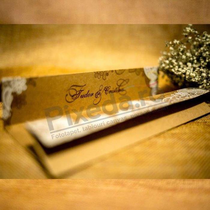 Imagine Invitatii nunta 4041 flori dantelate