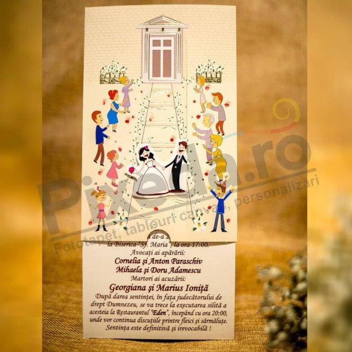 Imagine Invitatii nunta 5017 miri și invitați