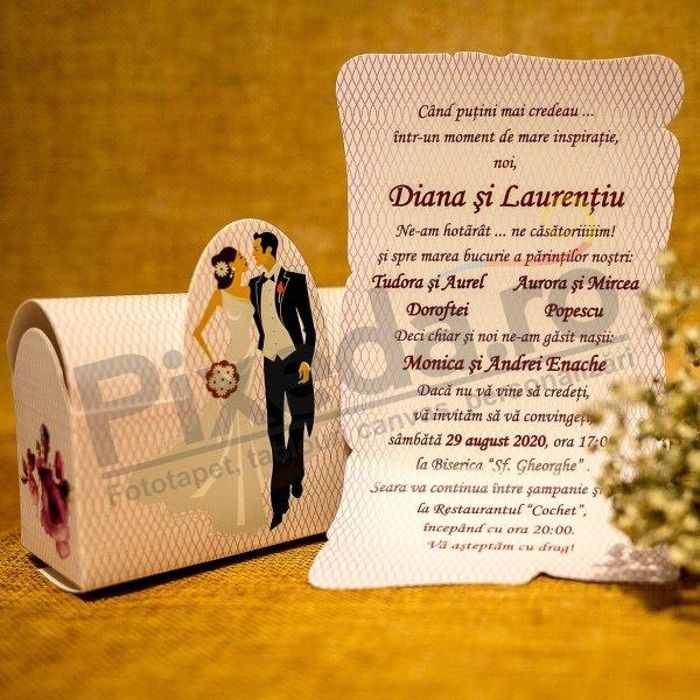 Imagine Invitatii nunta 5018 cufăr