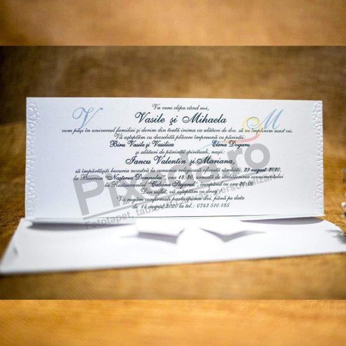 Imagine Invitatii nunta 5022 fundiță Disney