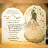 Imagine Invitatii nunta 5024 cupolă de flori și miri