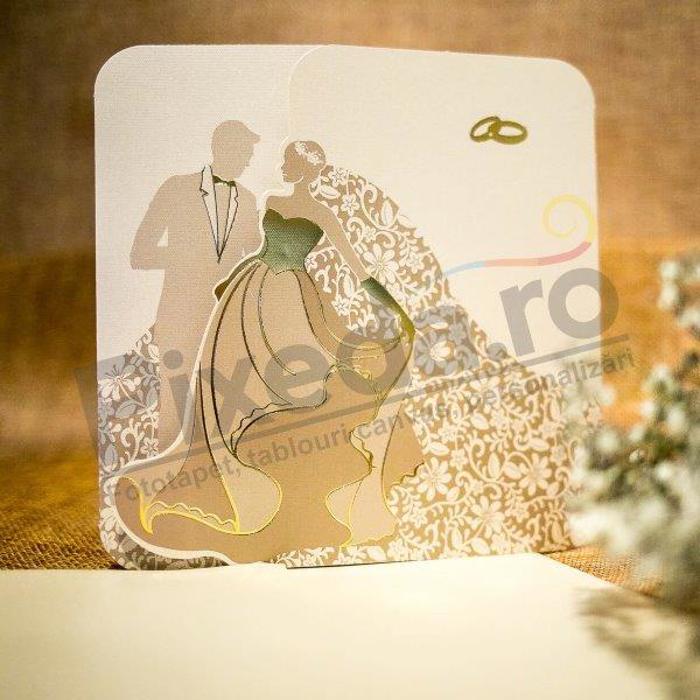 Imagine Invitatii nunta 5027 model romantic miri