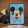 Imagine Invitatie de botez 101 albastră Mickey Mouse