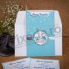 Imagine Invitatii de botez 103 bebeluș hăinuțe albastre