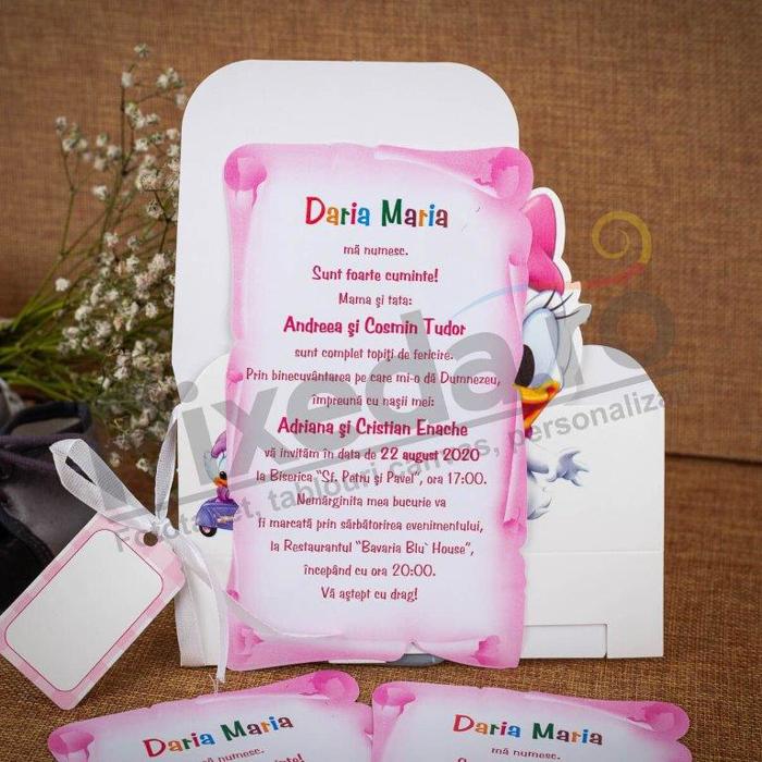Imagine Invitatii de botez 104 cutie Daisy Duck