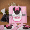 Imagine Invitatii de botez 106 felicitare Minnie Mouse