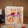 Imagine Invitatii de botez 115 girafă cu buline roz