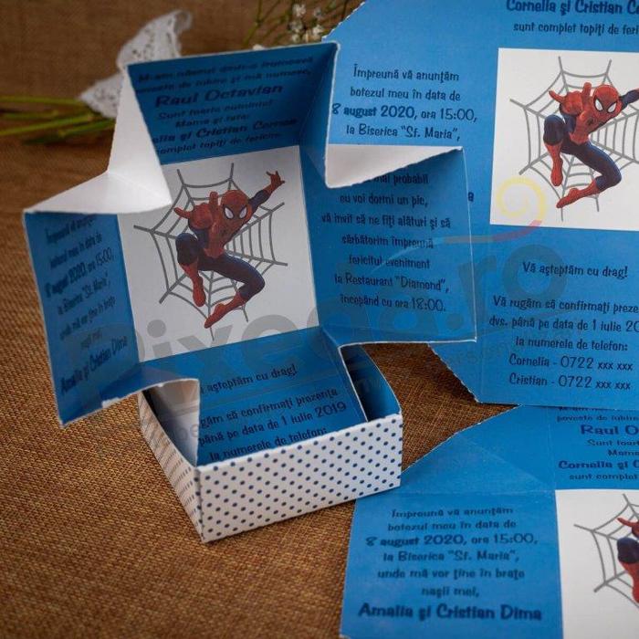 Imagine Invitatii de botez 131 cutie Spiderman