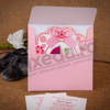 Imagine Invitatii de botez 135 căruț roz