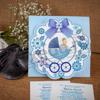 Imagine Invitatii de botez 136 căruț albastru