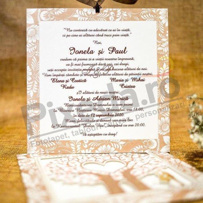 Imagine Invitatii nunta 20 natură