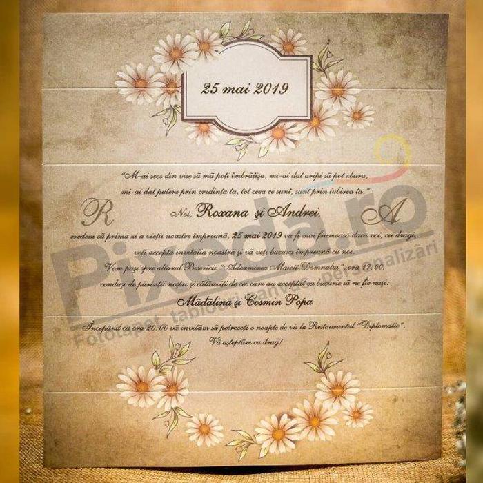 Imagine Invitatii nunta 4021B margarete și bentiță