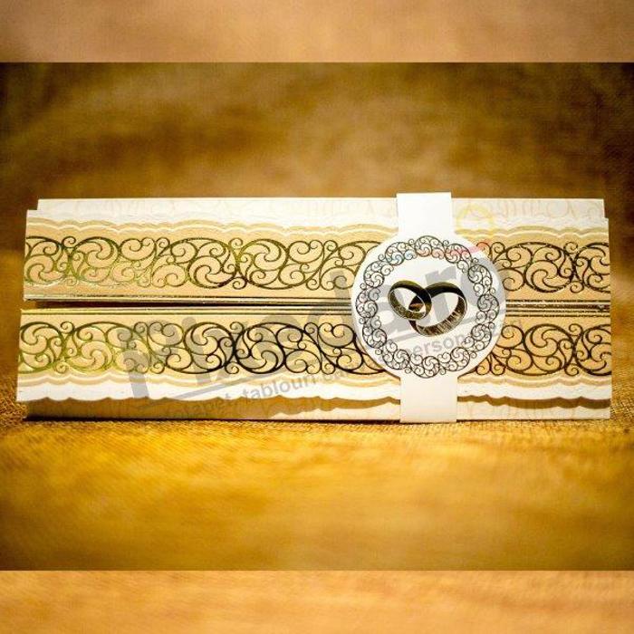 Imagine Invitatii nunta 9044 model auriu elegant