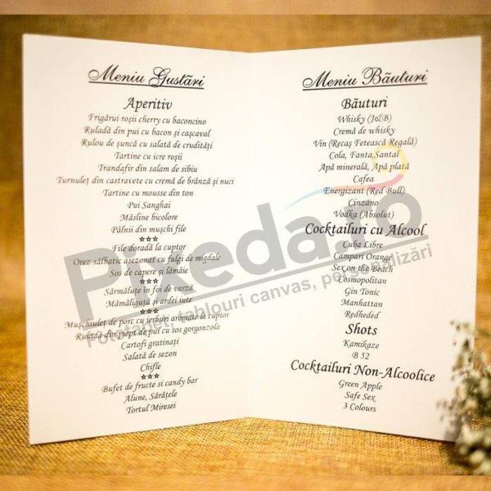 Imagine Meniu de nunta 5014 motiv floral