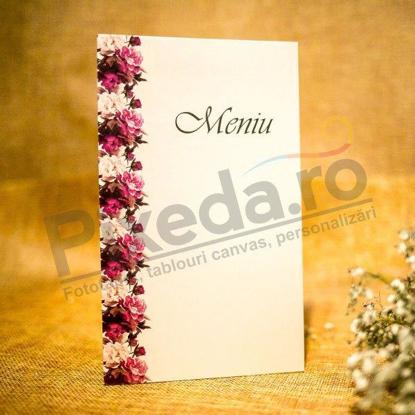 Imagine Meniu de nunta 5028 flori roz