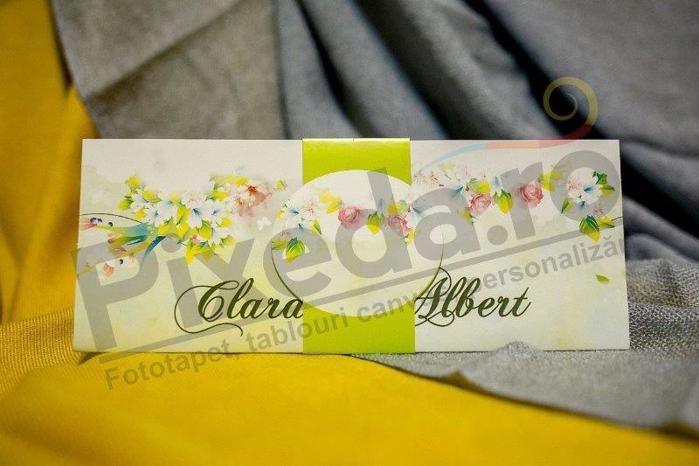 Imagine Invitatii nunta 204 verde flori de primăvară